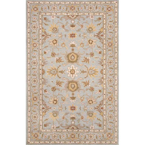 Jaipur Poeme Blue Brown Rectangular: 5 Ft. x 8 Ft. Rug