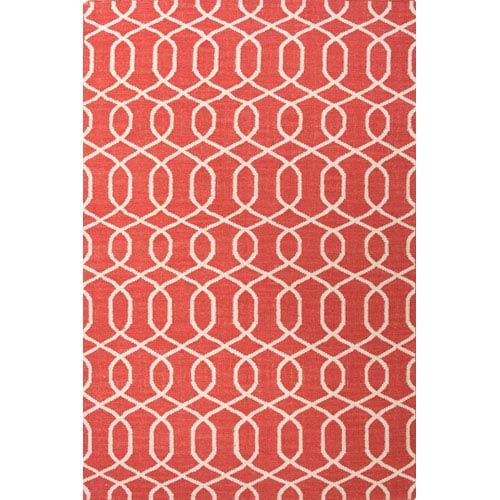 Jaipur Urban Bungalow Red Ivory Rectangular: 5 Ft. x 8 Ft. Rug