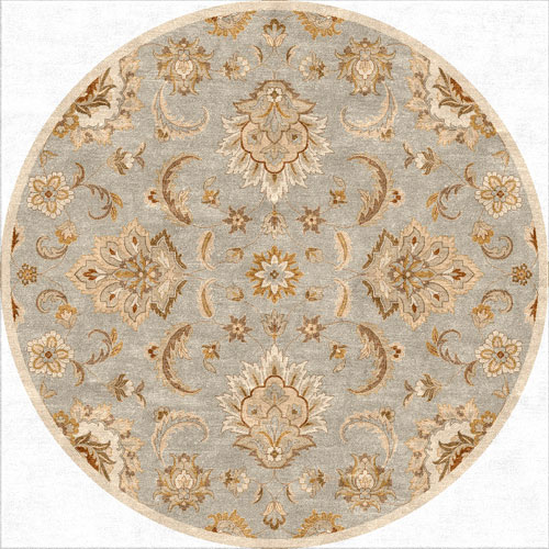 Jaipur Mythos Blue and Ivory Round: 10 Ft. x 10 Ft. Rug
