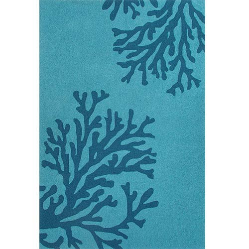 Grant GD50 Peacock Blue Rectangular: 2 Ft. x 3 Ft. Rug