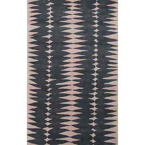Jaipur Luli Sanchez LST27 Dark Blue and Dark Ivory Rectangular: 2 Ft. x 3 Ft. Rug