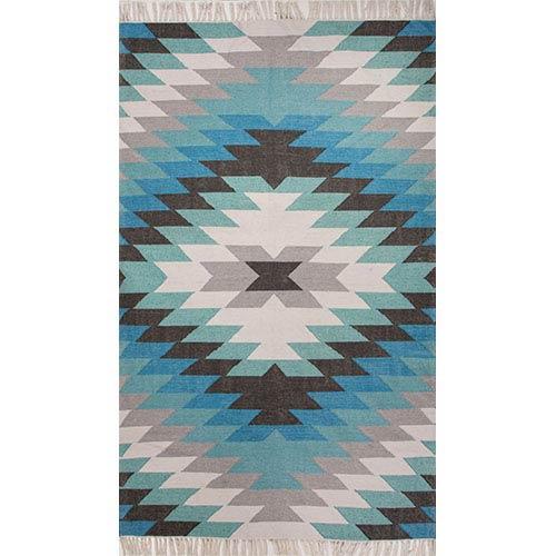 Desert DES01 Turquoise Rectangular: 2 Ft. x 3 Ft. Rug