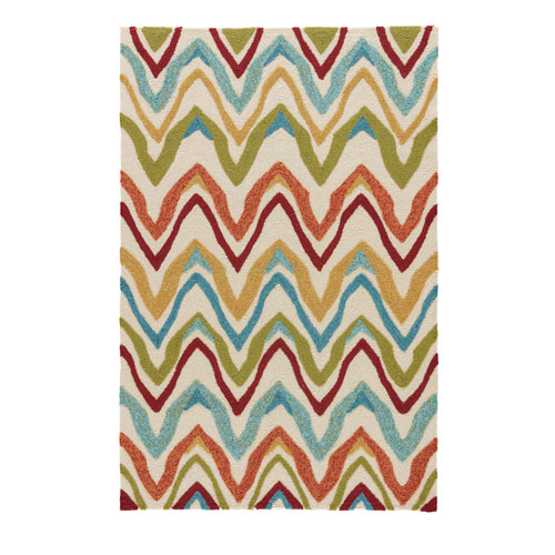 Coastal Lagoon Bahia Burnt Orange Rectangular: 5 Ft. x 7 Ft. 6 In. Rug