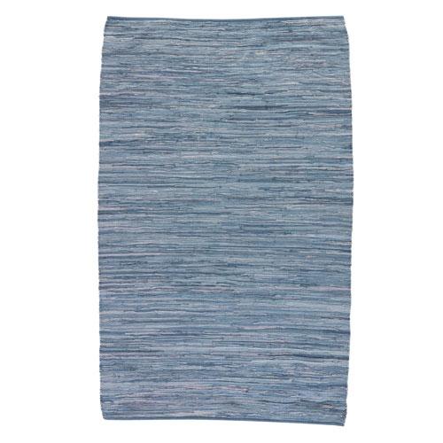Ann Raggedy Bijou Blue Rectangular: 2 Ft. x 3 Ft. Rug