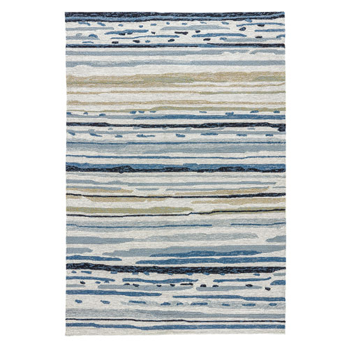 Colours Sketchy Lines Silver Green Rectangular: 9 Ft. x 12 Ft. Rug