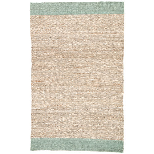 Jaipur Naturals Tobago Mallow Blue Surf Rectangular: 2 Ft. x 3 Ft. Rug