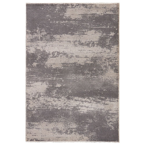 Jaipur Jada Discovery Charcoal Gray Rectangular: 5 Ft. 3 In. x 7 Ft. 6 In. Rug