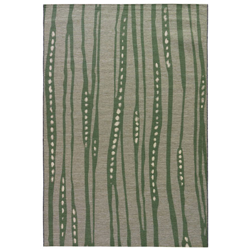 National Geographic Home Collection Indoor-Outdoor Tendril Pussywillow Gray Rectangular: 2 Ft. 3 In. x 3 Ft. 11 In. Rug