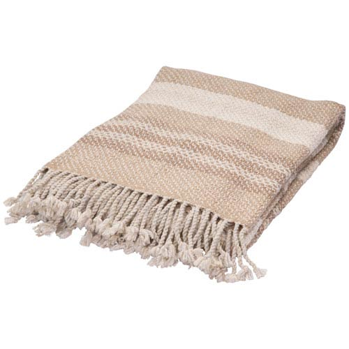 Lovell Pale Khaki and Egret Throw