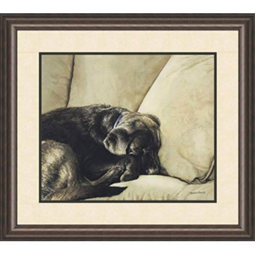 Dog Nap by Sueellen Ross: 24 x 20 Framed Open Edition Lithograph
