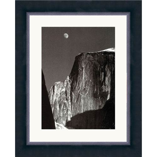 Hadley House Moon and Half Dome by Ansel Adams: 12 x 14 Framed Print Reproduction