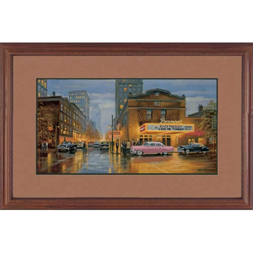 Evening at the Paramount by Dave Barnhouse: 40 x 26 Framed Limited Edition Art Print