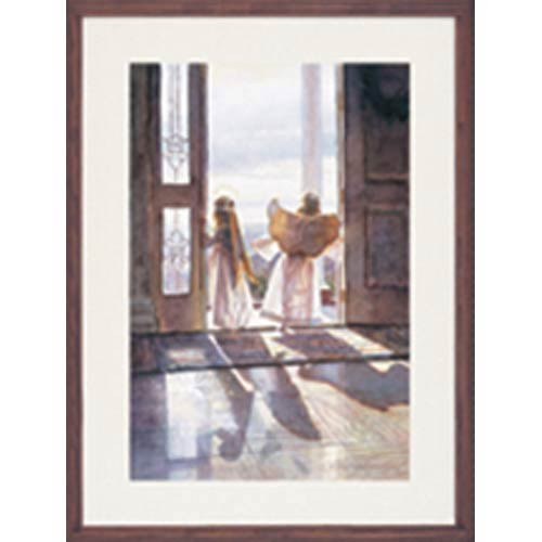 Angels Out the Door by Steve Hanks: 19 x 21 Framed Open Edition Lithograph Art Print