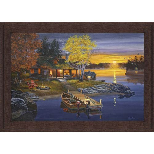 Hadley House Peaceful Evening by Fred Dingler: 17 x 13 Framed Giclee Canvas