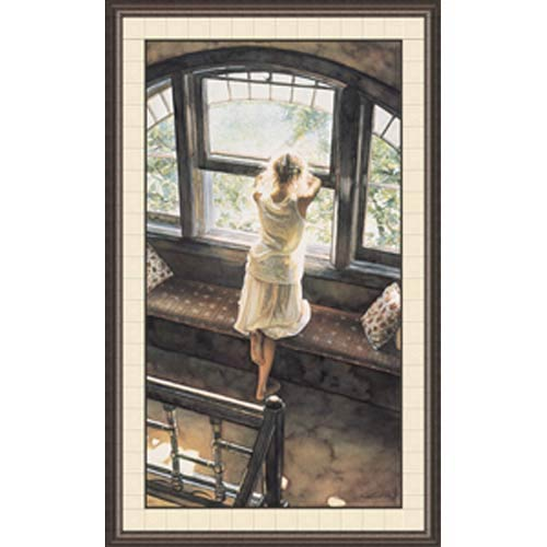 Sunday Afternoon by Steve Hanks: 35 x 47 Framed Open Edition Lithograph Art Print