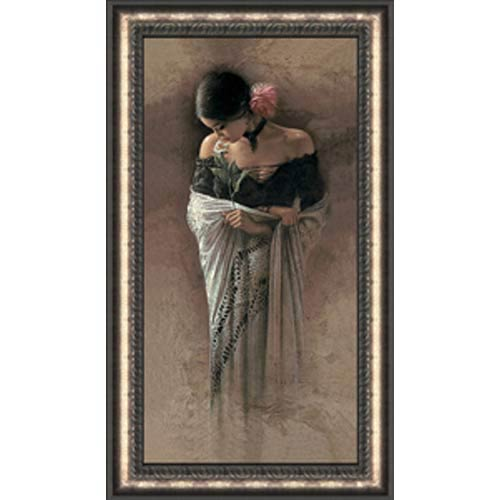 The Rose by Lee Bogle: 17 x 29 Framed Giclee Canvas Limited Edition