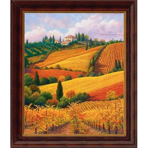 Tuscan Colors by Charles White: 23 x 25 Open Edition Giclee on Canvas