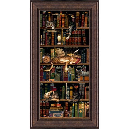 Hadley House Classic Tails by Charles Wysocki: 19 x 36 Framed Print Reproduction