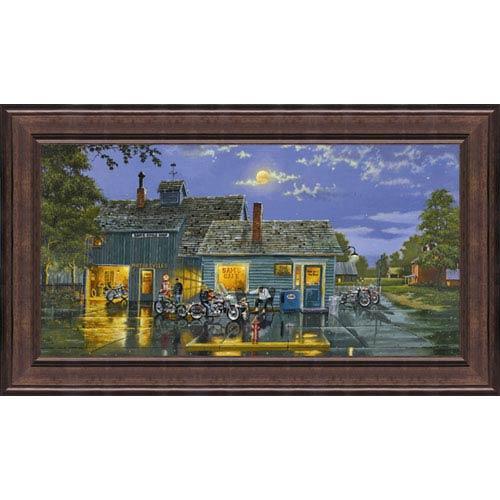 Hadley House Sams Cafe by Dave Barnhouse: 29 x 17 Framed Print Reproduction