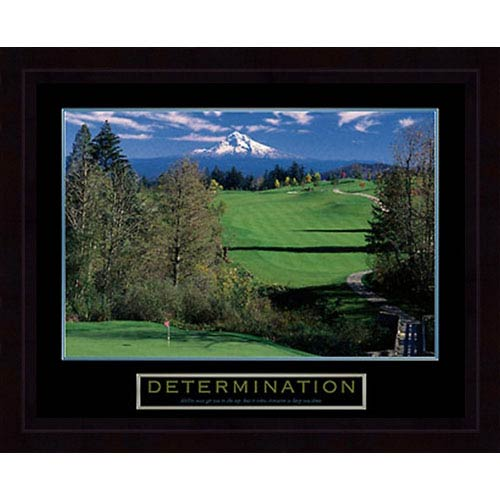 Hadley House Determination Golf: 32 x 26 Framed Print Reproduction