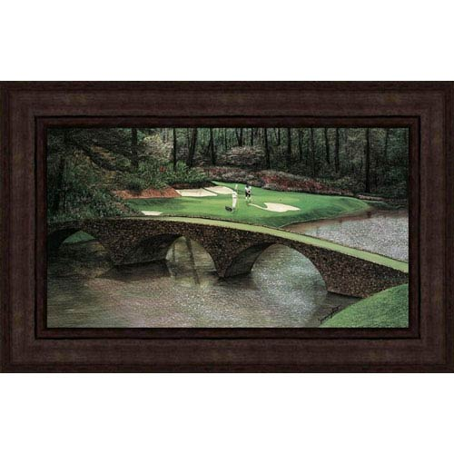 Hadley House Augusta 12th Hole by Jim Harrington: 36.5 x 23 Faux Canvas Framed Print Reproduction