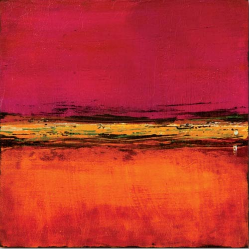 Cherry Sky by Leslie Pilgrim: 20 x 20 Gallery Wrapped Canvas Giclee