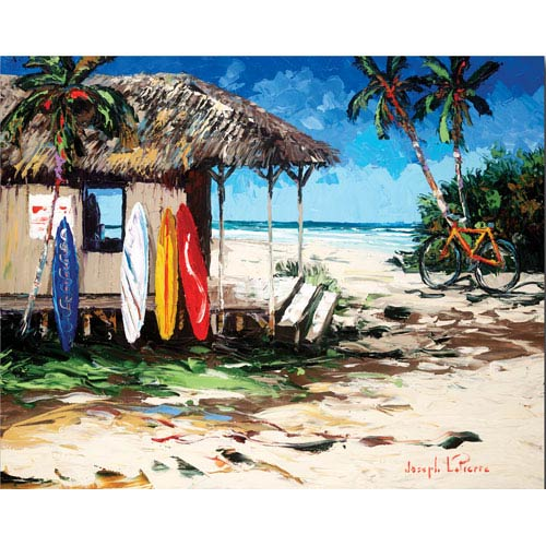 Surf Hut by Joseph LaPierre: 24 x 18 Gallery Wrapped Canvas Giclee