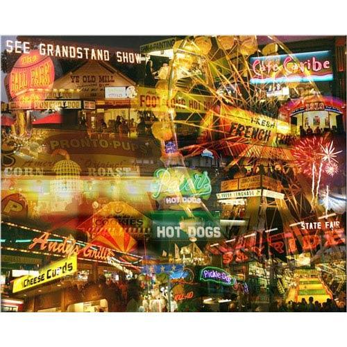 Hadley House Late Night Fair by Giesla: 14 x 11 Giclee Canvas