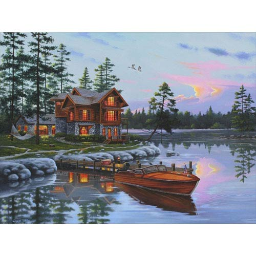 Hadley House Blessed by Geno Peoples: 12 x 9 Giclee Canvas