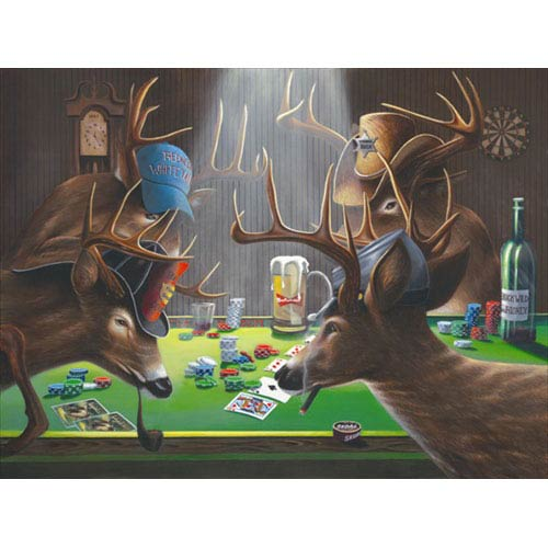 Hadley House Playing for Doe by Geno Peoples: 12 x 9 Giclee Canvas