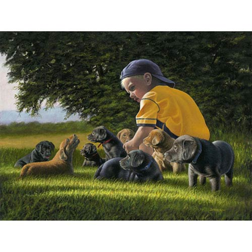 Hadley House Charlie and Friends by George Sierakowski, 24 x 32 In. Canvas Art