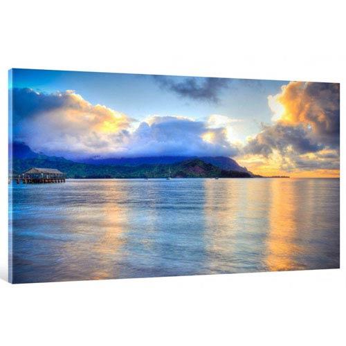 Hadley House Hanalei Bay Hawaiian Islands by Kelly Wade, 18 x 24 In. Canvas Art