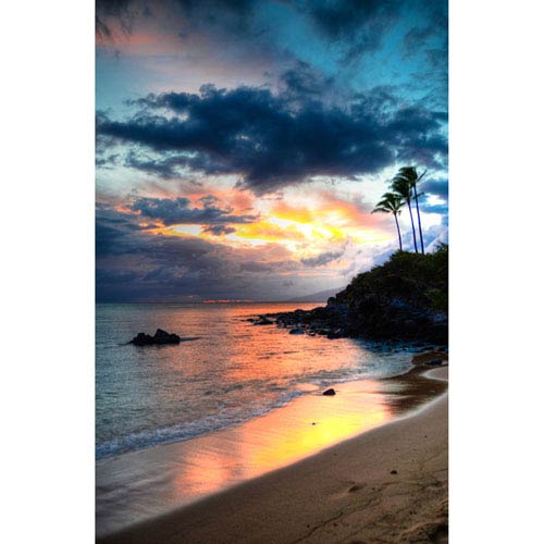 Hadley House Kapalua Maui Sunset Hawaiian Islands by Kelly Wade, 24 x 32 In. Canvas Art