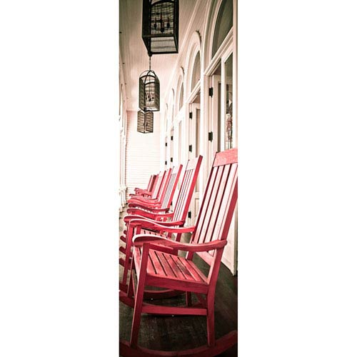 Hadley House Oahu Chairs Red Hawaii by Kelly Wade, 15 x 45 In. Canvas Art