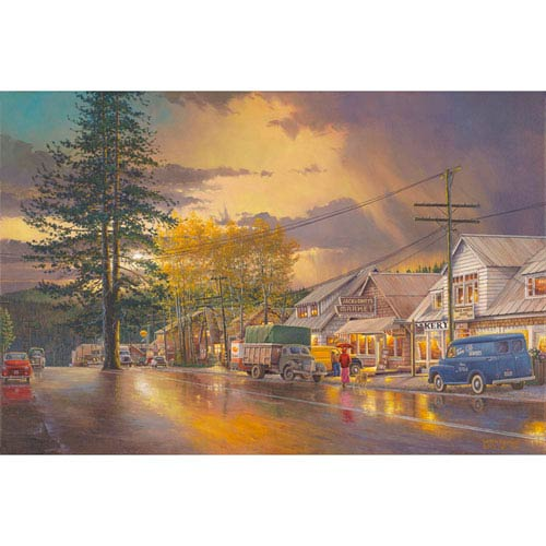 Hadley House Tahoe City An Easy Walk To The Market In This Americana Image by Keith Brown, 18 x 24 In. Canvas Art
