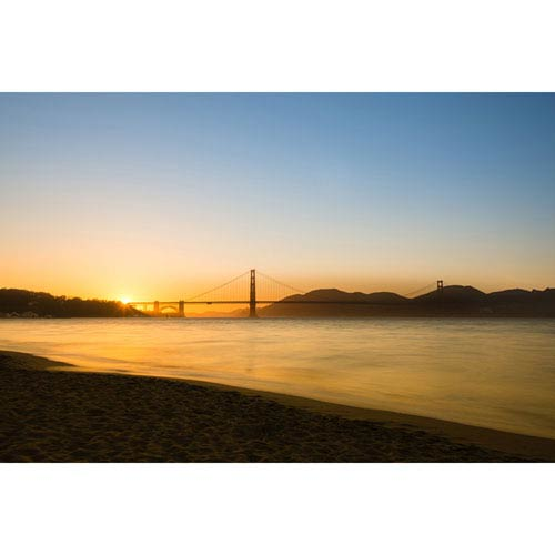 Hadley House Golden Sunset-San Francisco by Scott Barlow, 18 x 24 In. Canvas Art