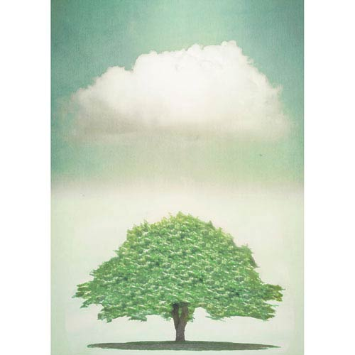 Hadley House French Tree by Hal Halli, 30 x 40 In. Canvas Art