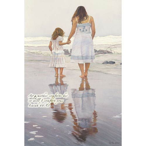 Hadley House Tides That Bind, Featuring Isaiah 66:13 by Wesley Dallas Merritt, 12 x 24 In. Canvas Art