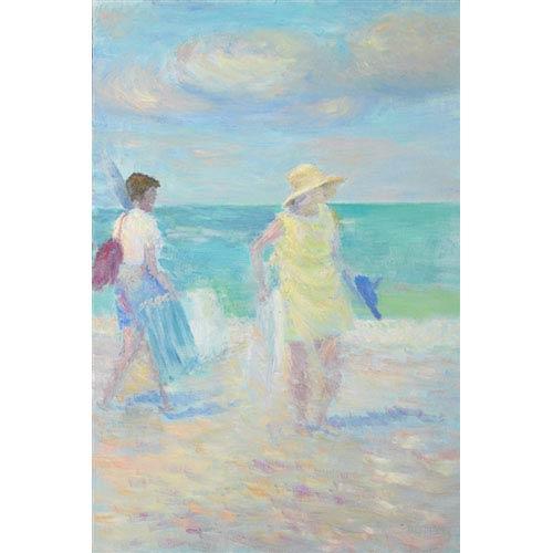 Hadley House Beach by Robert Blehert: 16 x 24 Giclee Canvas