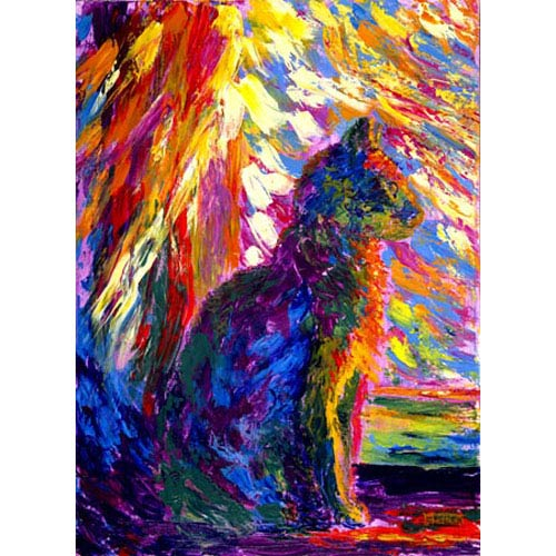 Hadley House Calidascope by Robert Blehert: 18 x 24 Giclee Canvas