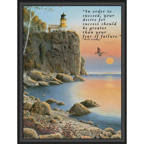 Hadley House Split Rock Lighthouse by Jerry Raedeke: 9 x 12 Print Reproduction