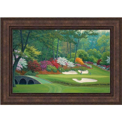12 hole at Augusta National by Charles White: 17 x 13 Framed Giclee Canvas