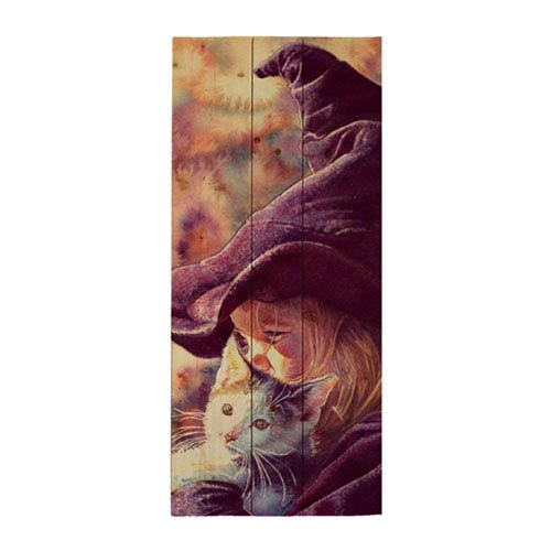 The Good Witch, Halloween by Wesley Dallas Merrit, 12 x 24 In. Wood Wall Art
