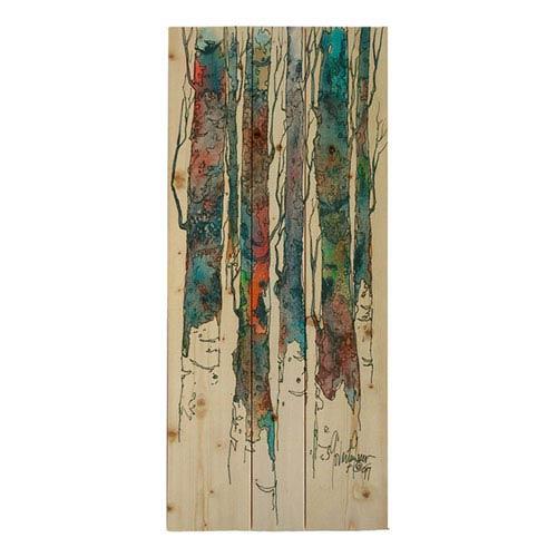 Hadley House Birch Ii by Cheri Greer, 8 x 16 In. Wood Wall Art