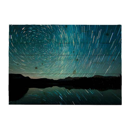 Hadley House Watching The Stars Go Around by Scott Barlow, 18 x 24 In. Wood Wall Art
