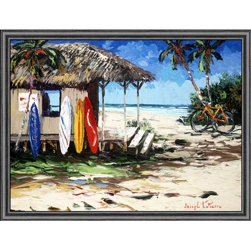 Hadley House Surf Hut by Joseph LaPierre: 12 x 9 Print Reproduction