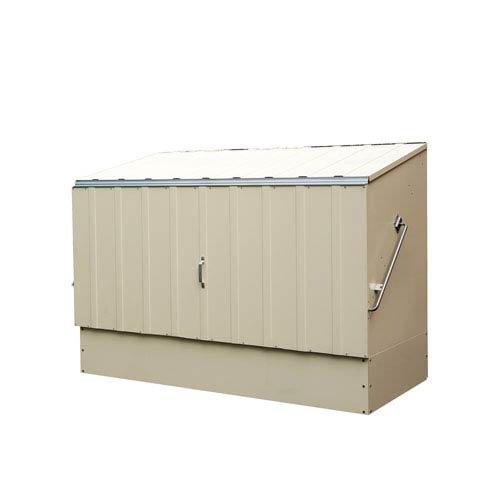 Trimetals Cream Bicycle Storage Shed