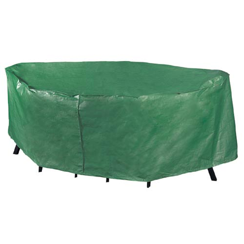 Rectangular Patio Set Cover: Polyethylene