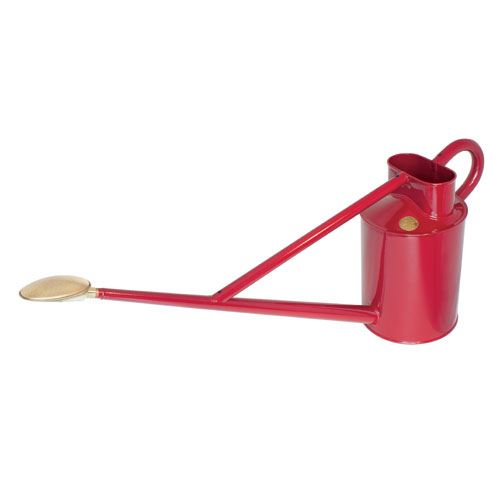 Haws 3.2-Gallon Professional Burgundy Metal Outdoor Watering Can