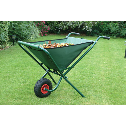 Green Folding Wheelbarrow